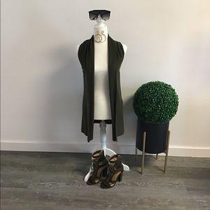 Forever 21 Olive Cardigan Vest